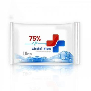 75% alcoholic wet wipes 50Pcs Disinfection wipes public and Household cleaning wipes Adults available OEM