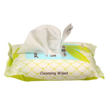 Large stock hand wet wipe surface cleaning
