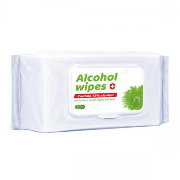 Wholesale High Quality Spunlace Cleaning Hand Sanitizer Tissue Case Baby Wet Wipe75% Alcohol Wipes