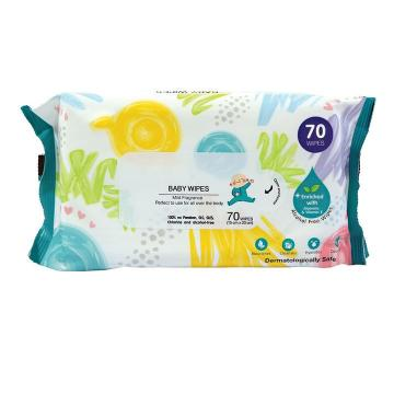 60pcs/barrel 99.9% effective disinfection sanitary wipes 75% alcohol cleaning wet wipes
