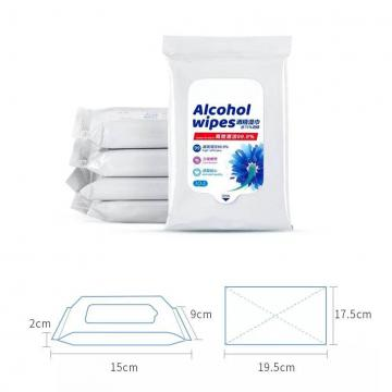 50pcs 75% isopropyl alcohol antibacterial disinfecting sanitizer cleaning hand medical wipes