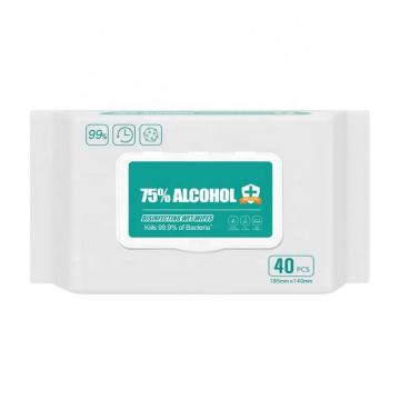 Antibacterial Sanitizer Quick Disenfecting Hand Cleaning Alcoholic Sanitizing 75% Alcohol Wet Wipes