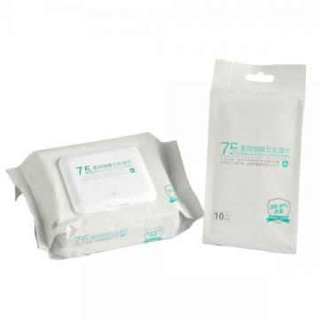 OEM individual ethyl alcohol wipes 200pcs package
